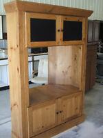 Custom Built Pine Corner Entertainment Unit