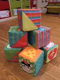 6x Soft baby building blocks