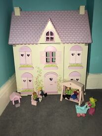 ELC Rosebud Cottage Dolls House *with lots of extras*