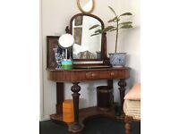Mahogany antique dressing table