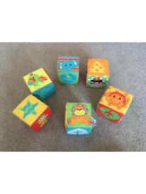 Mothercare Soft Play Crinkle Cubes Sensory Baby Play