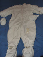 Polar Bear Snow Suit with Booties and Mittens