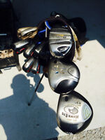 CALLAWAY GOLF BAG AND CLUBS / SHOES