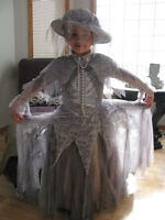NEW Ghastly Ghostly Girl Costume with Hat Size 5/6T