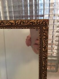 VINTAGE BEVELED MIRROR FREE DELIVERY BEAUTIFUL ORNAMENT 1960 🇬🇧 TALL SLIM MIRROR