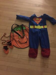 Superman costume with accessories