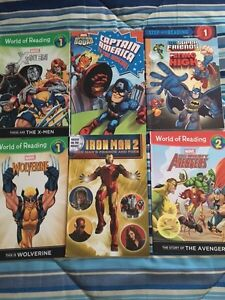 18 Super Hero books Level 1-4