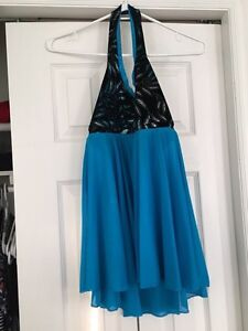 Two Tone Blue Dance Costume
