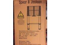 brand New Spear and Jackson 3.8m Telescopic Ladder Mk II Combination,Multipurpose,Extendable Ladder