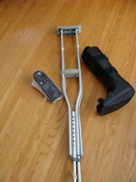 Walking aids: ProCare Walking Boot, Crutches, Achiles Wedge.