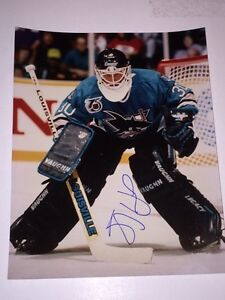 Jeff Hackett Autographed San Jose Sharks 8x10