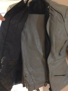 Woman's gray leather riding suit  Windsor Region Ontario image 2