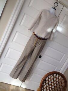 Banana Republic silk wool trousers size 4