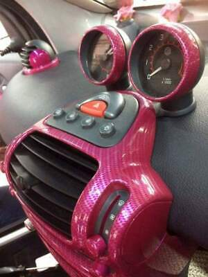 Carbon Fiber Pink Shinny Water Transfer Dip Hydrographic Hydro Film Girly 19x79