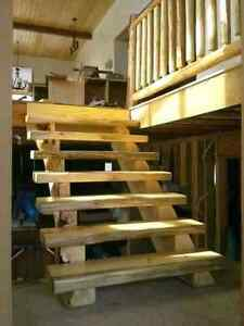 Custom Log and Timber stairs