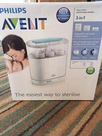Baby starter set. Steriliter, manual breast pump & electric breast pump.