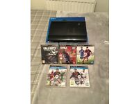 PS3 slim with games and one controller
