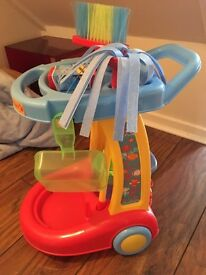 Kids cleaning trolley set