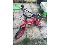 Kids powerangers bike with stabilisers
