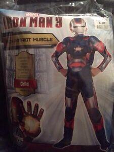 Children's Costume - Iron Man - Iron Patriot - medium 8-10