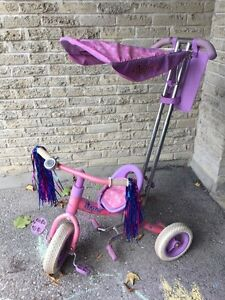 Disney princesses push tricycle with canopy