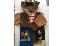 Kidorable kids pirate rain coat - age 4 yrs