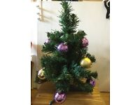 1.5 Ft Miniature Christmas Tree included bubble
