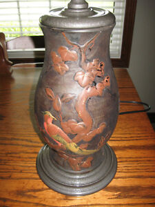 VINTAGE C1930'S JAPANESE POTTERY TABLE LAMP