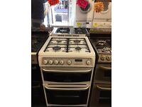CANNON 60CM ALL GAS COOKER IN WHITE WITH LID.