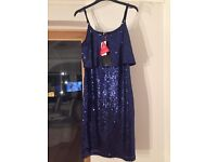 Brand new with tags Very blue sequin pencil dress size 10-12