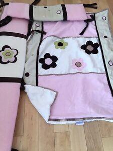 Ensemble de literie pour bébé en coton et en lin et accessoires