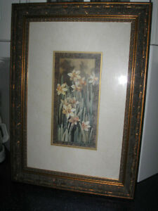 GORGEOUS VINTAGE PROFESSIONALLY  FRAMED LINDA THOMPSON PRINT