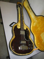 "Early 70s ""Gibson EB-3L"" Copy, Lawsuit Era Bass, MIJ w/ OHSC"