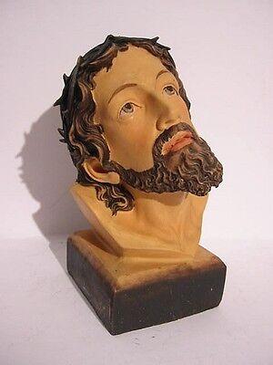 Jesus Christ Head Portrait Statue, 17 CM Polyresin Figurine, Religion, New