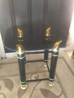 smoked glass end table - can deliver