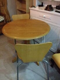 Round Table & 2 Chairs - Can Deliver