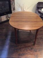 Large Wooden Dining Table with Extension