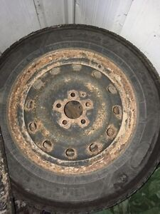 * REDUCED* 4 Goodyear Ultragrip winter tires and rims Kawartha Lakes Peterborough Area image 4