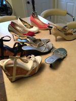 Ladies Summer Brand Name Shoes (most new) Size 7.5/8