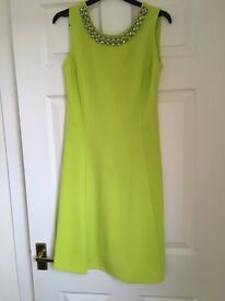 Dorothy Perkins new Without Tags lime green skater dress size 10