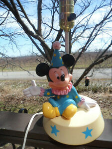 Vtg 1987 Mickey Mouse Child Light Table Lamp Walt Disney Circus