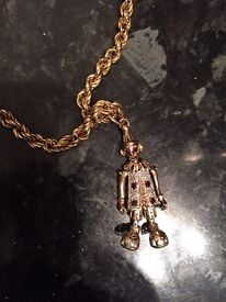 9ct gold clown necklace