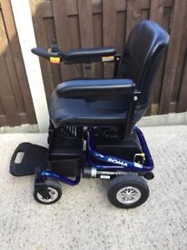 ROMA MEDICAL RENO ELECTRIC WHEELCHAIR QWITH NEW BATTERIES IN STUNNING CONDITION DISMANTLES EASILY