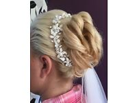 Hair vine Swarovski crystal and pearl beads