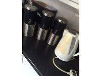 tea, coffee, sugar sets and kettle