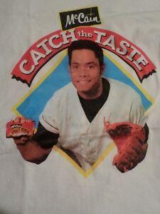 "Vintage McCain ""Catch the Taste"" Roberto Alomar T-Shirt London Ontario image 1"