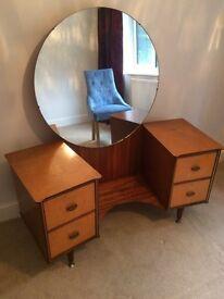 Vintage Art Deco vanity and matching wardrobe