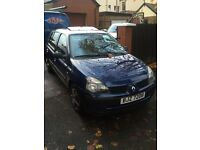 01 CLIO FULL YEAR MOT 57k ONE LADY OWNER FULL SERVICE HISTORY 5DOOR
