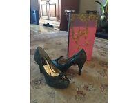 Minette Delfina shoes ladies uk 3/3.5 designer glamour RRP£155