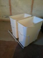 Double Pull out Garbage Bins 15L $30.00